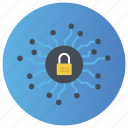 cyber security, neural lock, neural network, neural protection, neural security icon