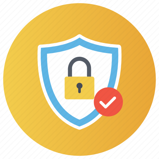 padlock, password, safety lock, security shield, verified protection icon