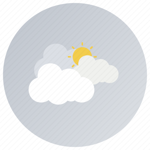 cloudy day, cloudy sun, cloudy weather, forecast, hazy day, overcast icon