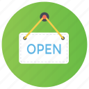 door open, office open, open, open sign board, shop open icon
