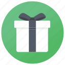 birthday gift, christmas gift, gift, gift box, present icon
