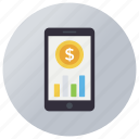 business app, business finance, business monitoring, business search, finance search icon