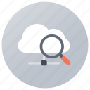 cloud computing, cloud exploration, cloud search, cloud service, cloud technology icon