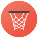 basket, basketball net, basketball ring, goal net, hoop icon