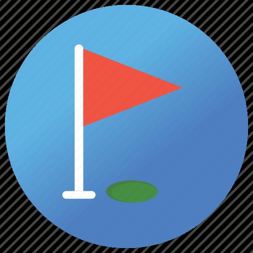 eightenn hole, golf, match play, medal play, nine hole icon