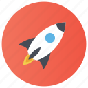 launching, rocket, rocket launching, rocket ship, space rocket icon