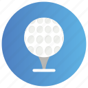 course ball, golf ball, golf equipment, golfball on tee, sports ball icon