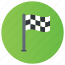checkered flag, emblem, flag, race track, racing flag icon