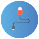 charging cable, computer cable, data cable, network cable, usb cable icon