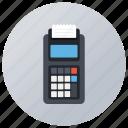 cashless transaction, invoice machine, payment machine, pos terminal, swipe machine icon