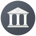 bank, credit union, financial building, financial institution, storehouse icon
