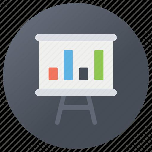 annual report, bar chart, bar graph presentation, diagrammatic display, histogram icon