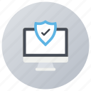 computer security, data protection, device locked, internet password, pc protection icon