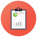 business report, financial report, financial statement, statistic, status report icon