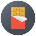 bister, candy bar, choco bar, chocolate, confectionery, sweets icon