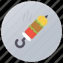 barbecue stick, bbq, brochette, grill food, skewer icon