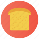 bread, bread slice, breakfast, french toast, toast icon