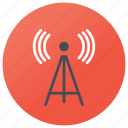 broadcast network, communication tower, radio tower, telecom tower, wireless tower icon