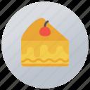 cake, cake piece, cake slice, confectionery, dessert icon