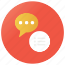 chatting, communication, conversation, discussion, messaging, talking icon