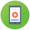 android phone app, media player, mobile video app, video interface, video pause icon