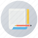 letterhead, office supply, stationery, writing material, writing paper icon