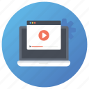 online streaming, online video, site video, streaming video, video website icon