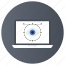 cyber eye, cyber monitoring, cyber security, cybernetics, mechanical monitoring icon