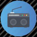fm, radio, radio device, radio telephonics, transmission icon