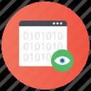 analyzing network, cyber eye, internet monitoring, remote monitoring, web monitoring icon