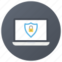 internet security, laptop security, pc protection, secure laptop, system security icon