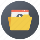 file format, video file format, video folder, web file, web folder, web portfolio icon
