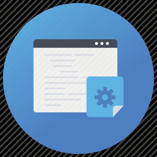 browser setting, internet setting, network setting, site setting, web settings icon