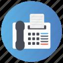 facsimile machine, fax, fax machine, telefax, telegram icon