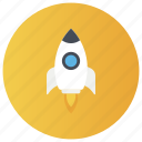 blastoff, introduction, product launch, publish, rocket launch, rocket launching, start up icon
