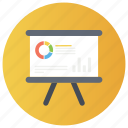 business chart, business meeting, data analysis, financial graph, graphical presentation, growth chart icon