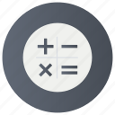 accounting, auditing, calculation, calculator, computing, reckoning icon
