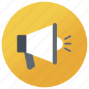 advertising, announcement, bullhorn, loudspeaker, megaphone icon