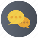 chat bubbles, chatting, conversation, message, speech bubbles icon