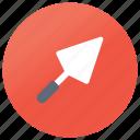 construction equipment, digging tool, scoop, shovel, spade, spatula icon