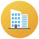 building, corporation, hotel building, office building, real estate icon