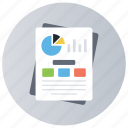 analytics, graphical reporting, graphical representation, pie chart, statistics icon