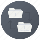 archive exchange, data exchange, exchanging information, file sharing, folder exchange icon