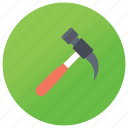 clutchead, hammer, mechanic equipment, repairing tool, setting tool icon