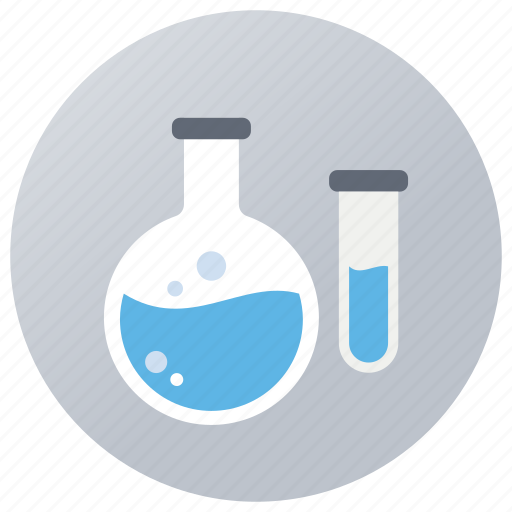 chemical experiment, lab apparatus, lab equipment, lab research, laboratory testing, practical icon