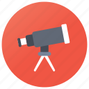 astronomy, space vision, spyglass, stargazing, telescope icon