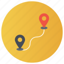 direction finder, gps, location pin, navigation, trajectory icon