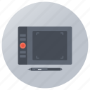 digital art board, digitizer, graphic engine, graphic tablet, pen tablet icon