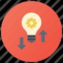 alteration, idea, innovation, novelty, rearrangement, renovation icon