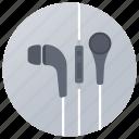 earbuds, earphone, earspeakers, hands free, music gadget icon